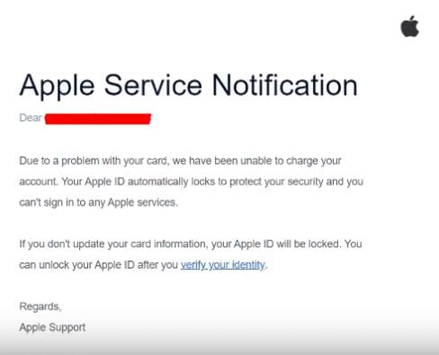 Phishing Attempt Apple