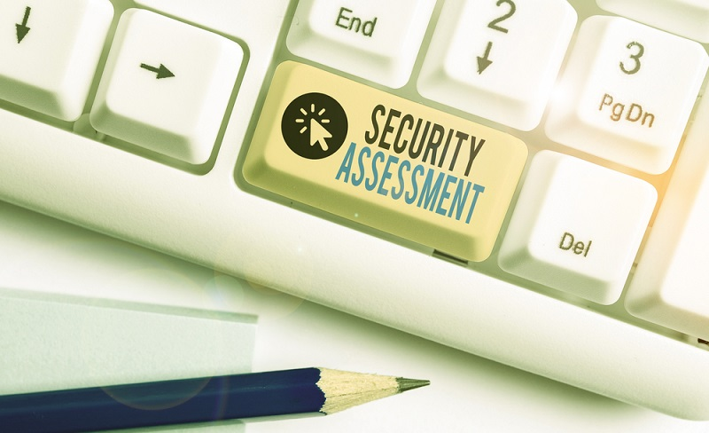 """Text """"Security Assessment"""" on a button"""