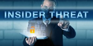 Pressing INSIDER THREAT on a virtual touch screen interface
